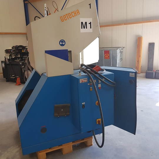 Maalmolen Getecha met  Big Bag vulstation